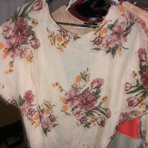 Cross back floral top